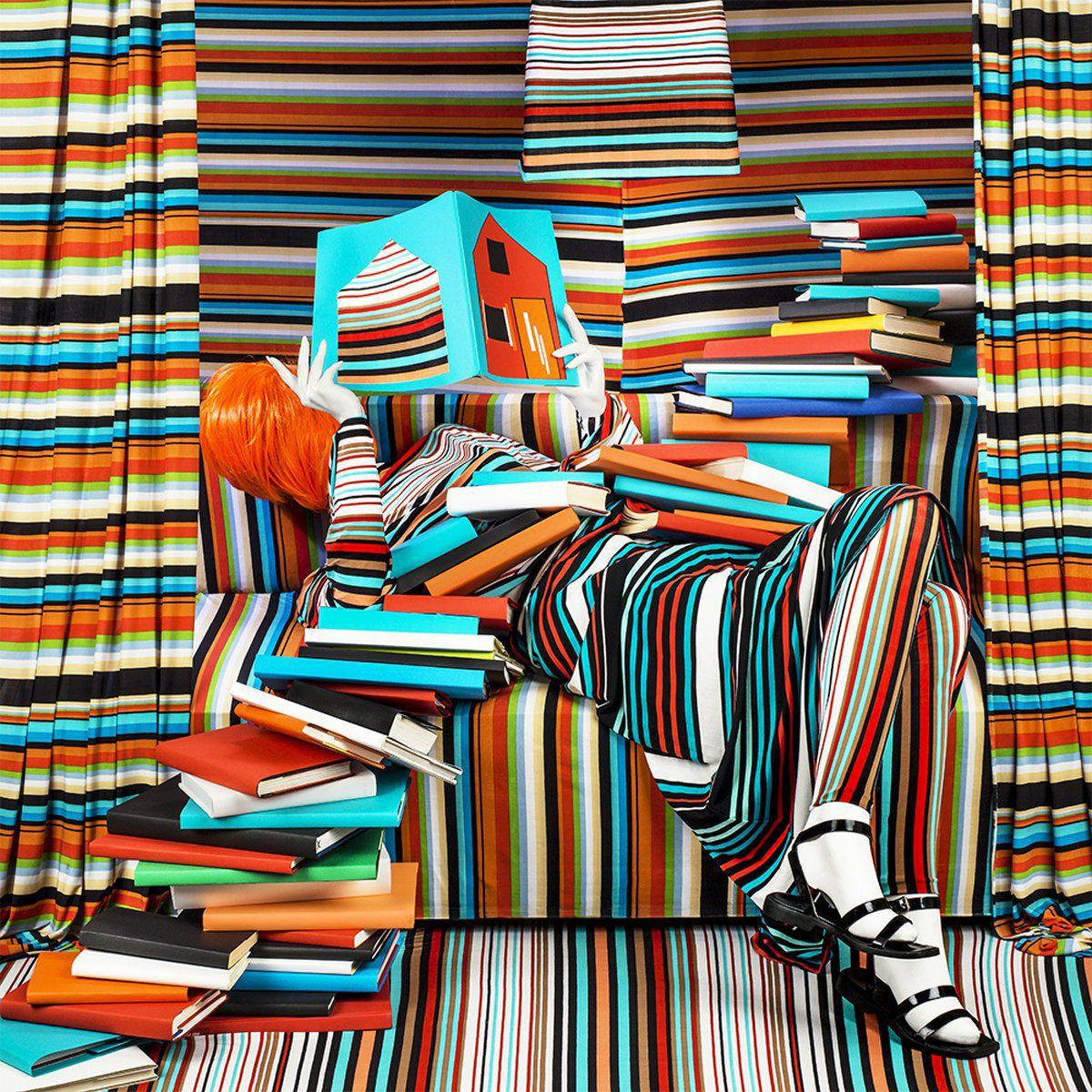 Striped Books by Patty Carroll