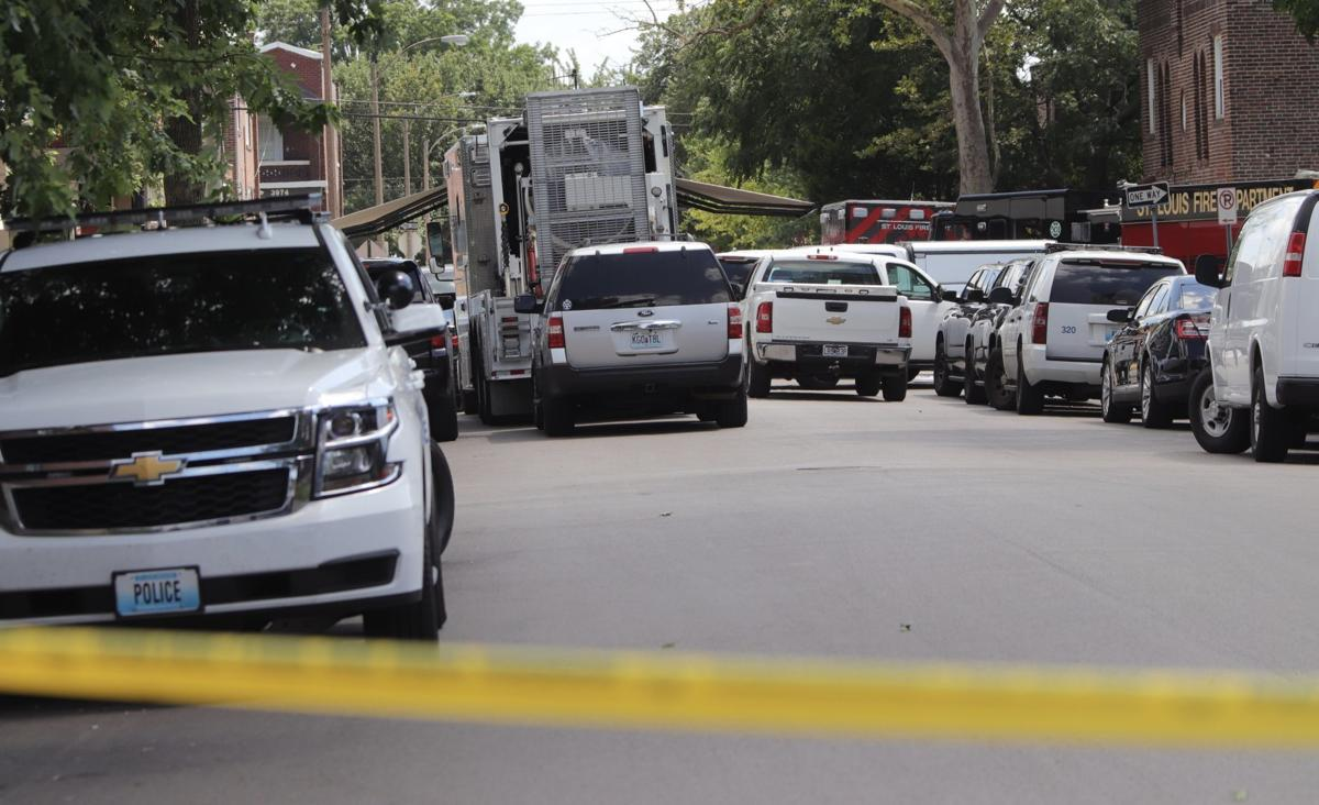 Police and Fire personnel surround area in south St. Louis neighborhood