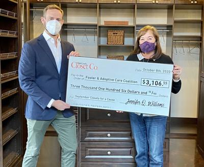 Saint Louis Closet Co.'s Donation to Foster & Adoptive Care Coalition