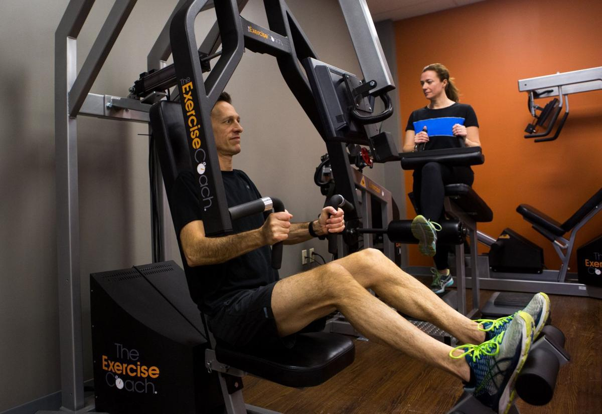 Tim O'Brien and his wife, Chalegne O'Brien, train at Exercise Coach.