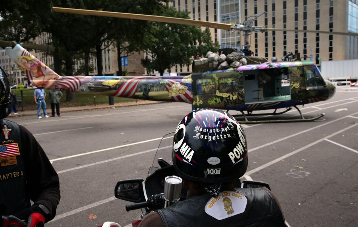 Healing helicopter: A restored Vietnam War chopper visits downtown