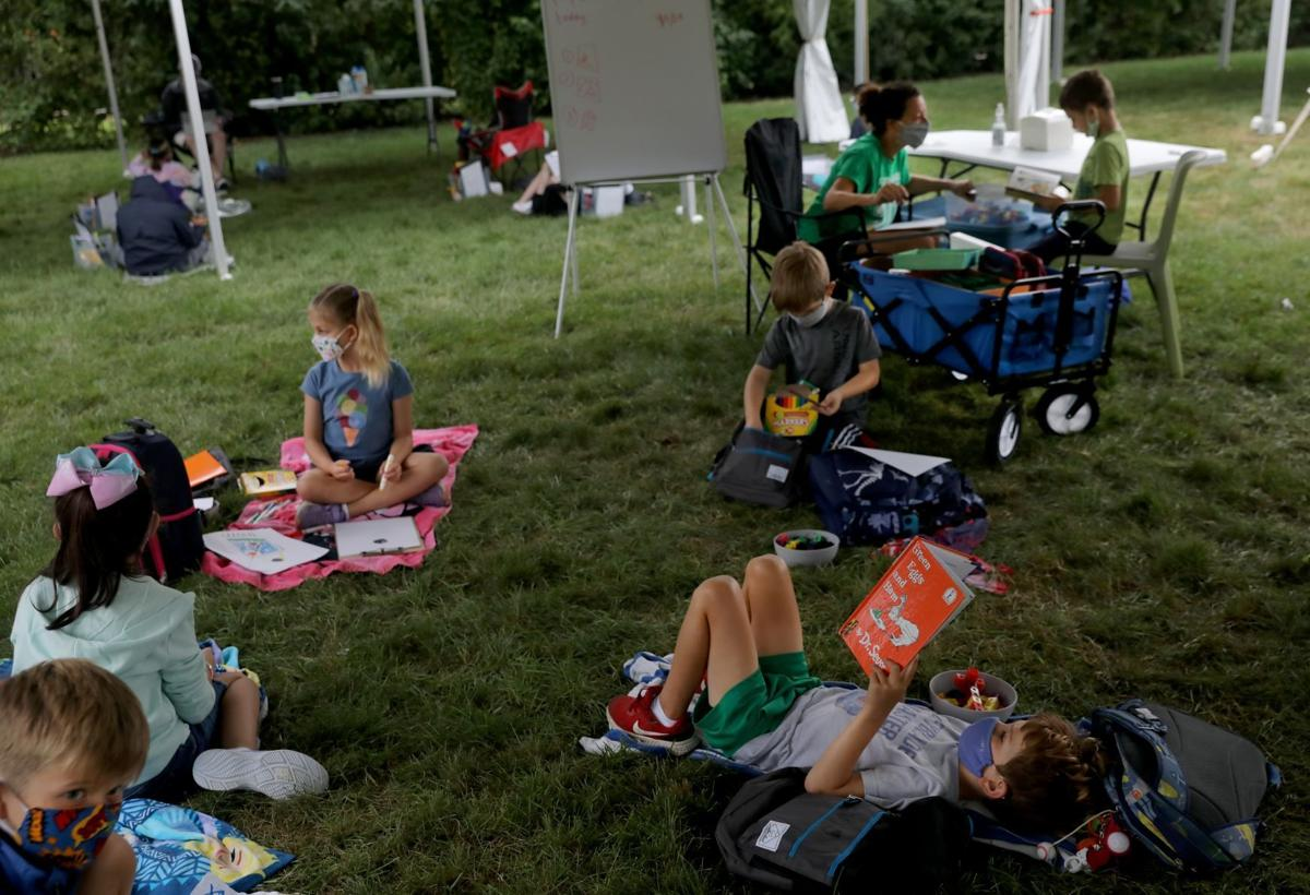 Forsyth School creates outdoor classrooms during coronavirus pandemic