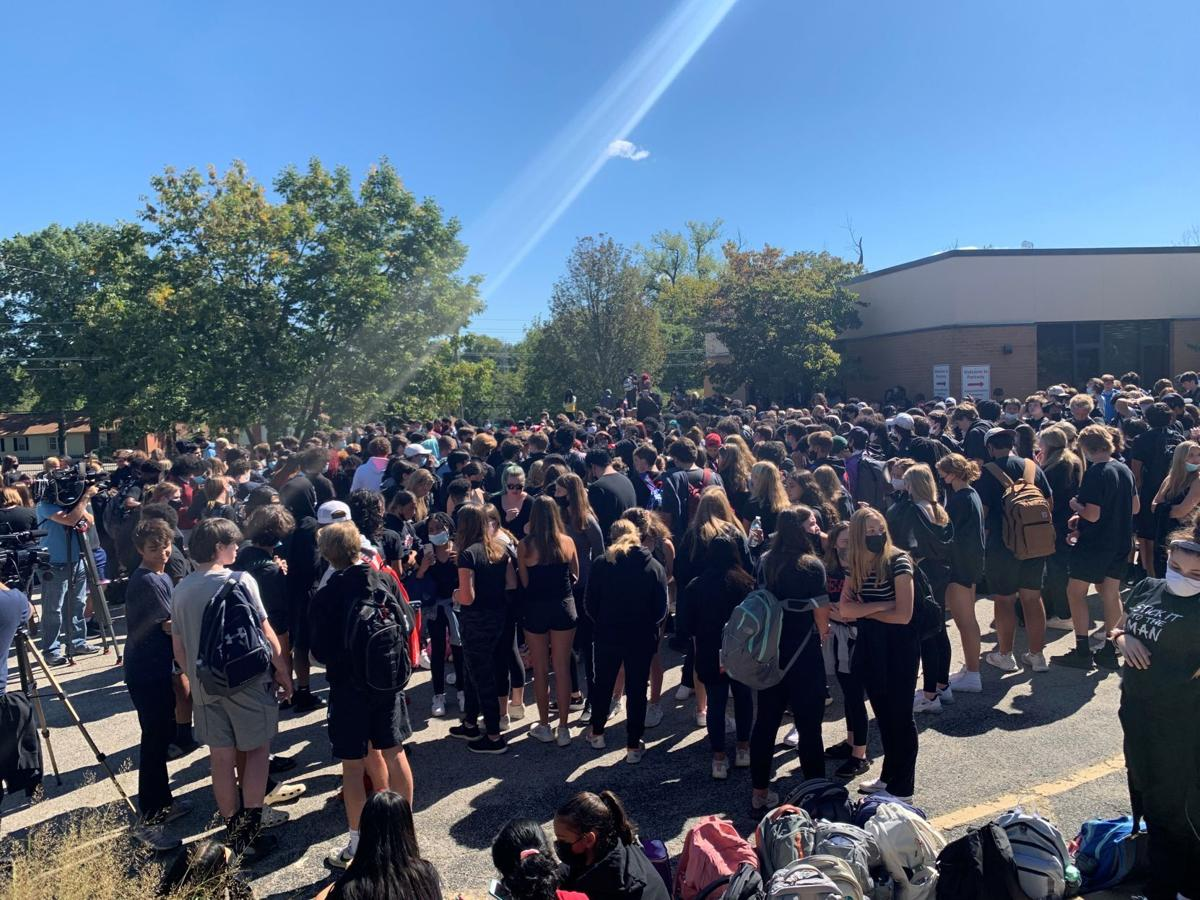students walk out after racist graffiti found in bathrooms