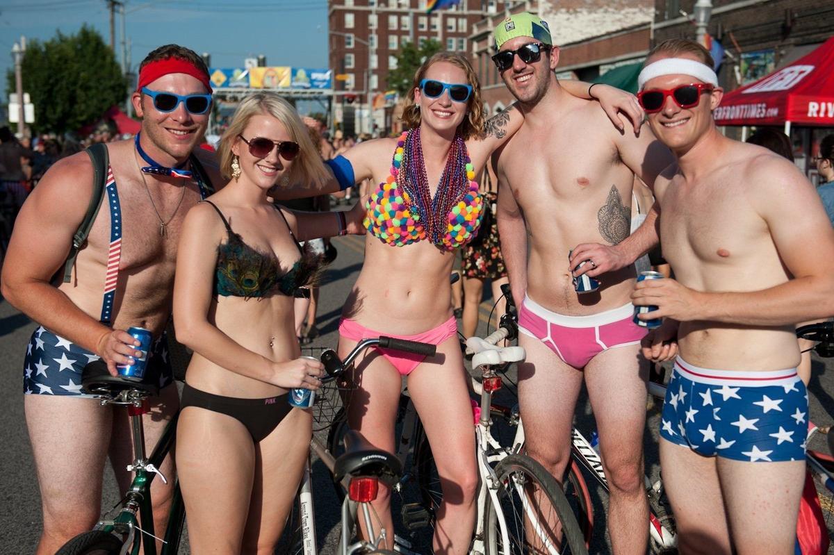 Female nude bike nudist