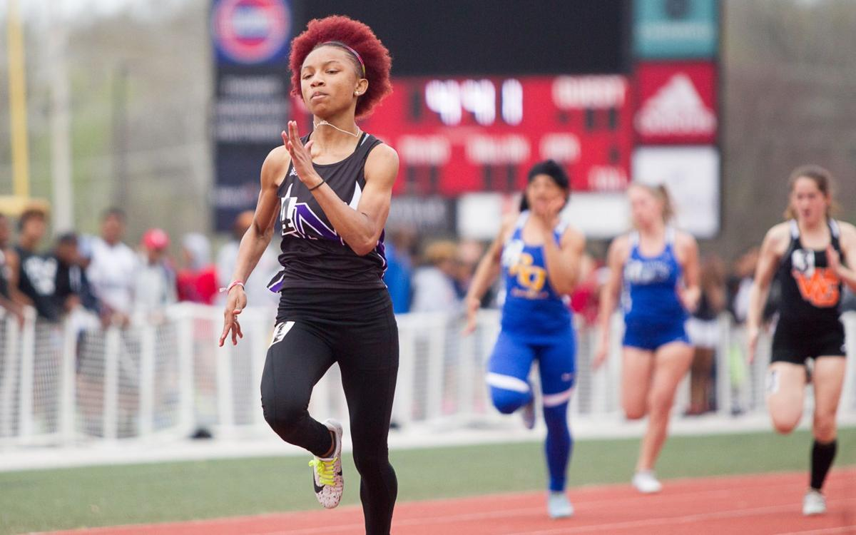 Henle Holmes girls track and field, Day 1