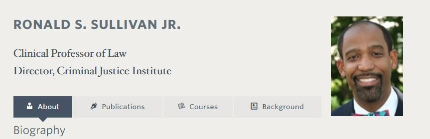 Ronald Sullivan's Harvard biography page