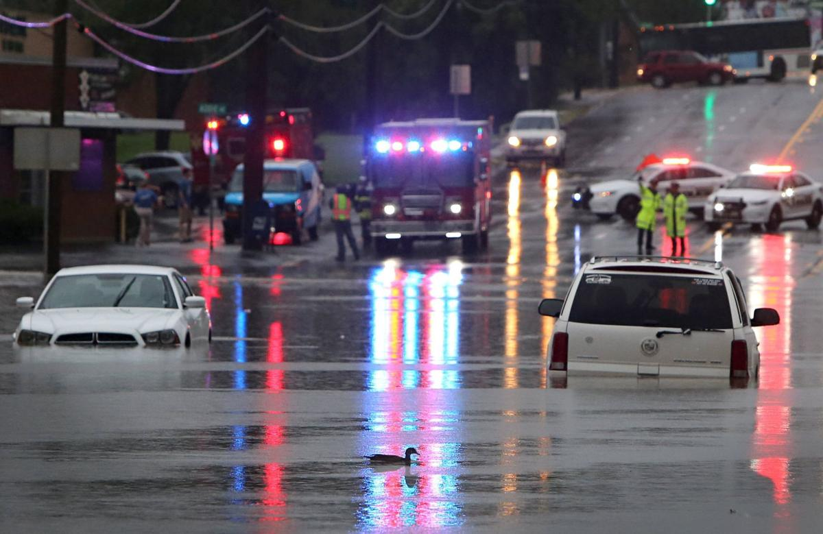 Flooding closes S. Hanley Road in Brentwood