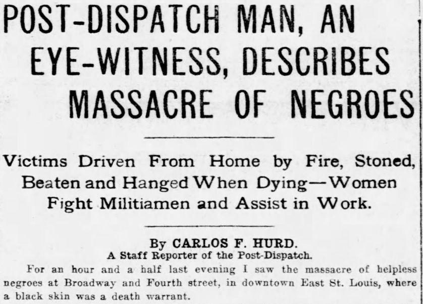 July 3, 1917, Hurd's article about race riot