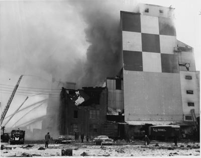 Ralston Purina feed mill fire