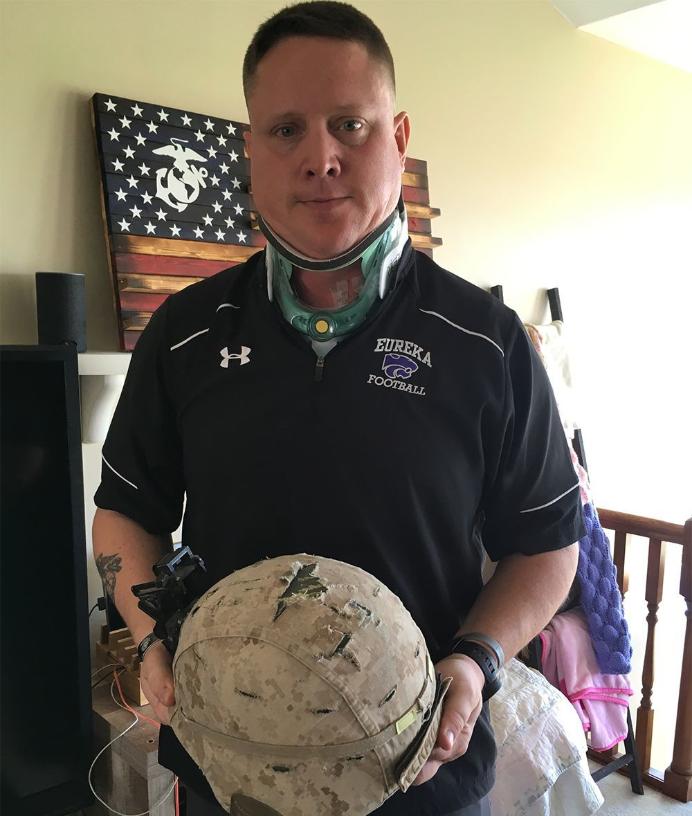 Wounded warrior relies on what the Marines taught him: Never give up