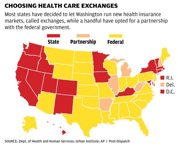 Health exchanges map
