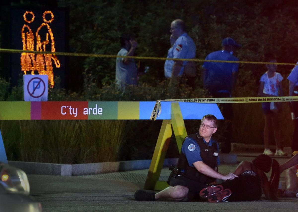Shooting injures three people at Citygarden