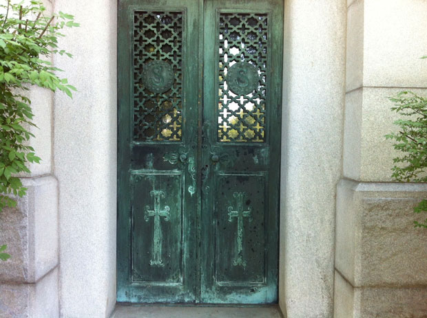 Door at Calvary Cemetery