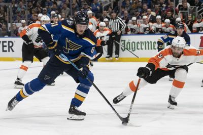 Blues face off against Flyers