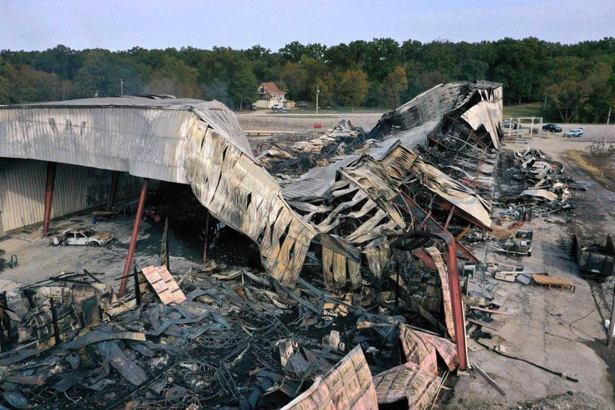 Woodland Marina boat storage destroyed by fire