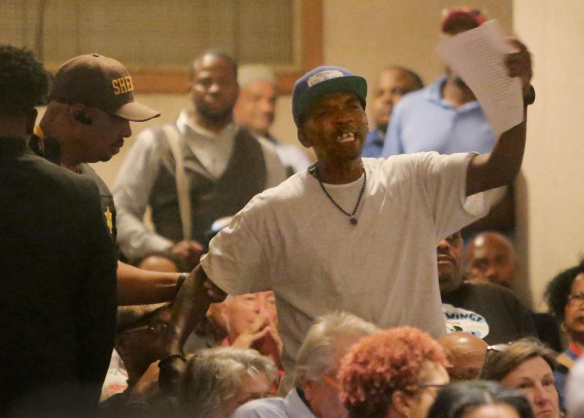 People voice frustration at Gun Violence Meeting