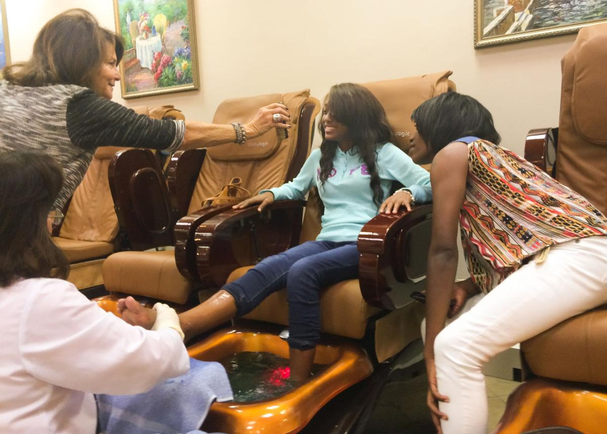 Latasha Williams gets her first pedicure before homecoming dance