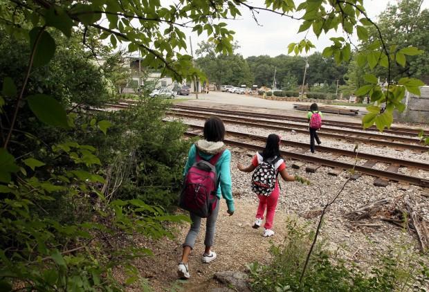 Hot spot train track crossings in Kirkwood
