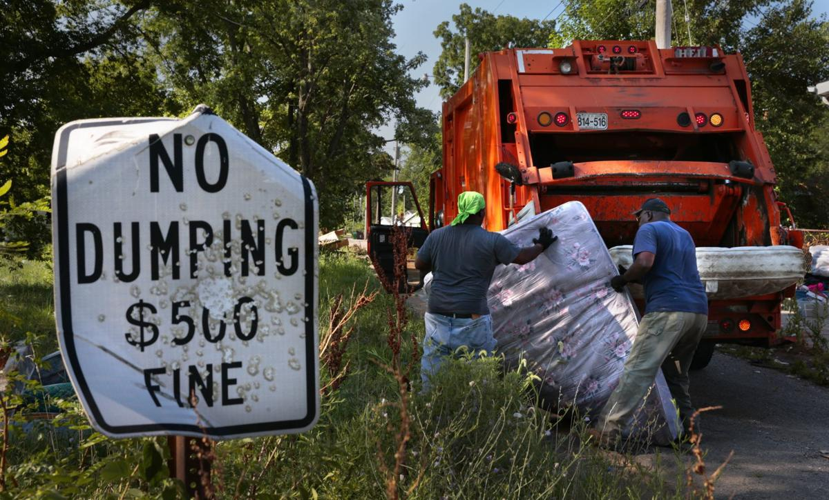 Illegal dumping in St. Louis, on St. Louis