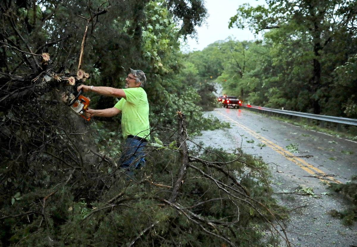 Storm downs trees in Augusta