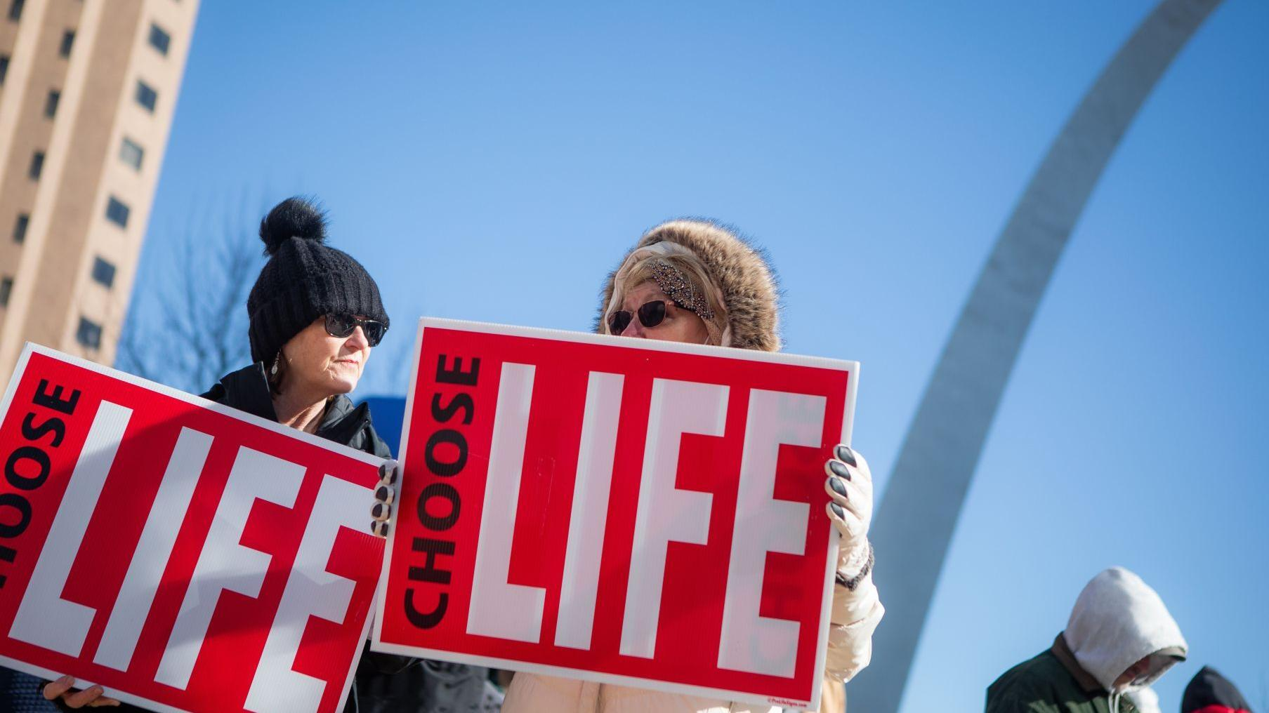 Photos: Anti-abortion activists rally at Old Courthouse