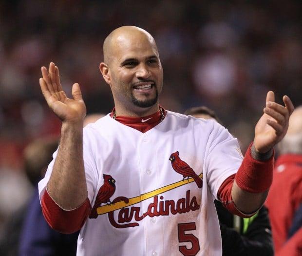 Pujols claps World Series Game 6