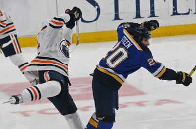 The Blues take on the Oilers at the Enterprise Center