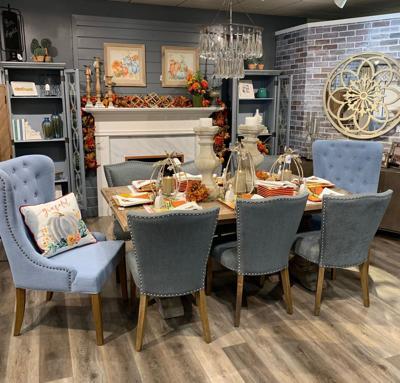 Blue Dahlia Designs Dining Room Vignette