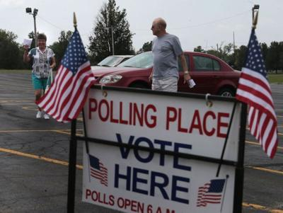 St. Charles voting - arriving to vote