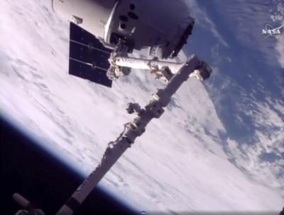 Space station welcomes 1st returning vehicle since shuttle