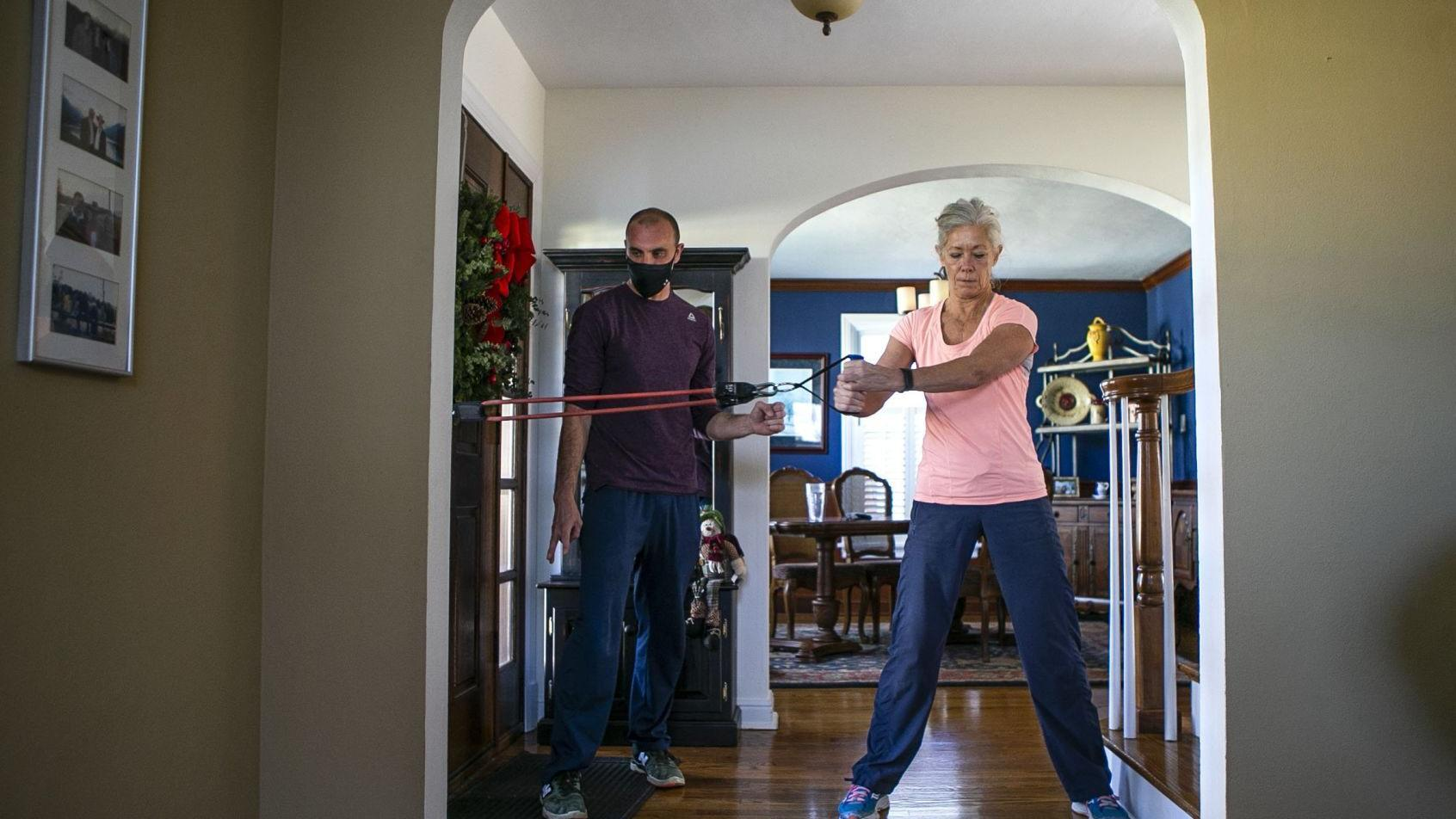 Photos: Training at home during the pandemic