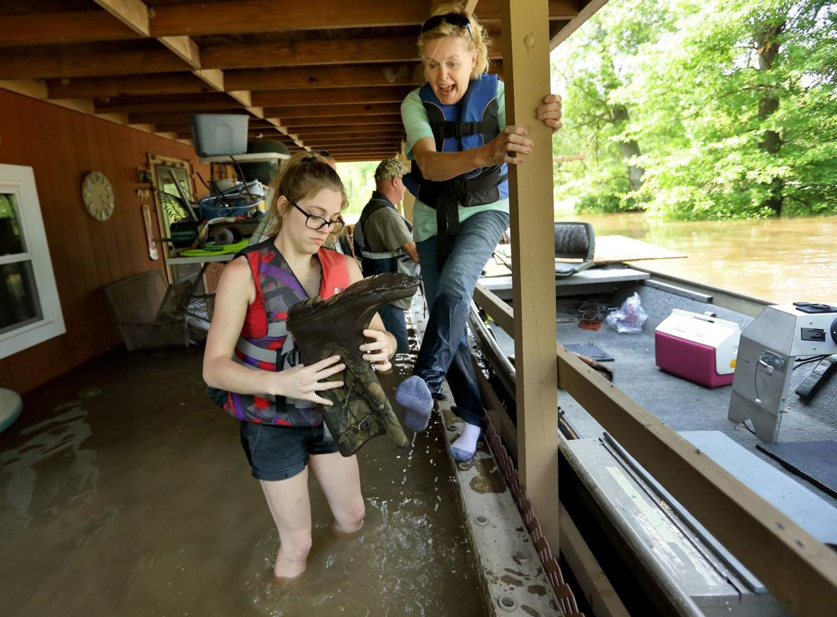 Mississippi River flooding in St. Charles County
