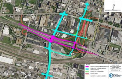 A map of planned roadway changes