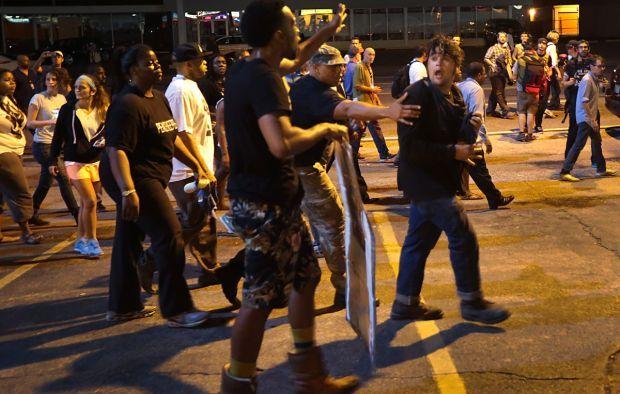 Peace broken in Ferguson