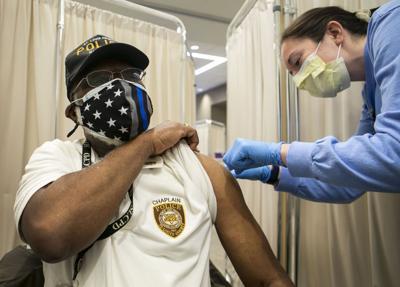 First responders vaccinated at SLU Hospital