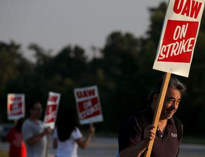 UAW workers strike in Wentzville, across the nation