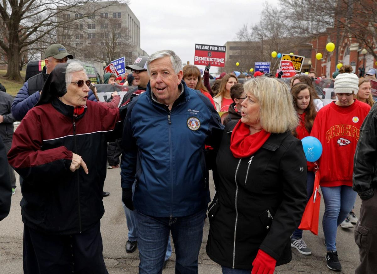 Parson speaks at Midwest March for Life