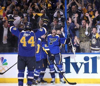 Blues fans celebrate