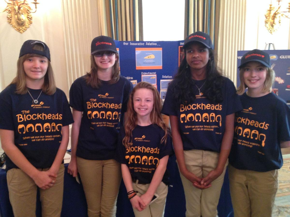 St. Louis Girls Scouts exhibit 'EcoBin' invention at White House Science Fair