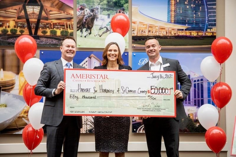 Habitat for Humanity of St. Charles County Receives Ameristar St. Charles Donation