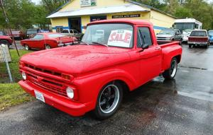 Red Hot 1966 Ford F-100 Flareside pickup!.