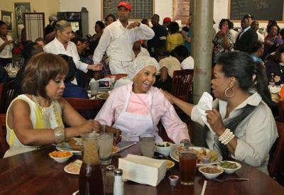 Oprah visits Sweetie Pie's