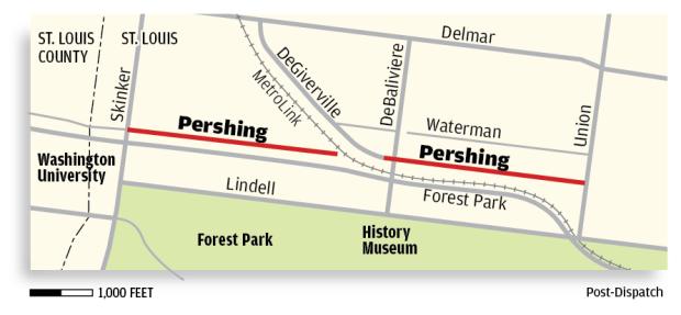 Pershing Avenue map