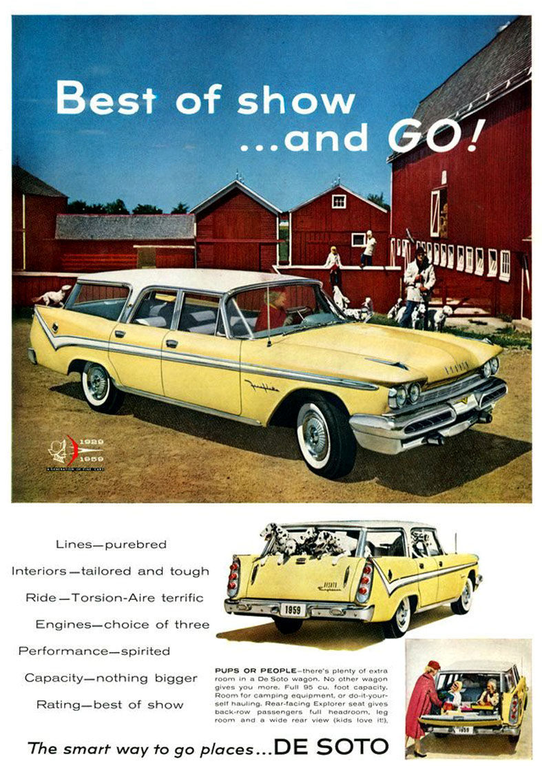 OLD CAR COLUMN: The 1959 DeSoto station wagon was built to haul in ...