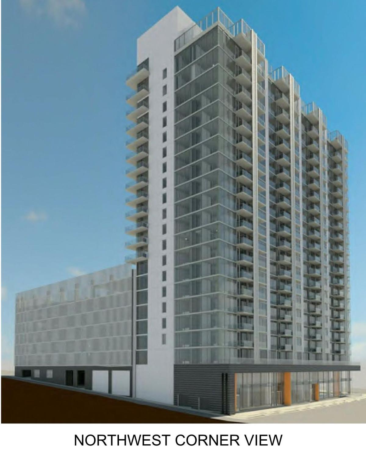Planned tower in Clayton