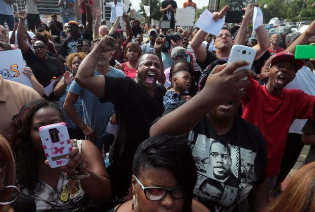 Relative of Michael Brown joins Ferguson protest
