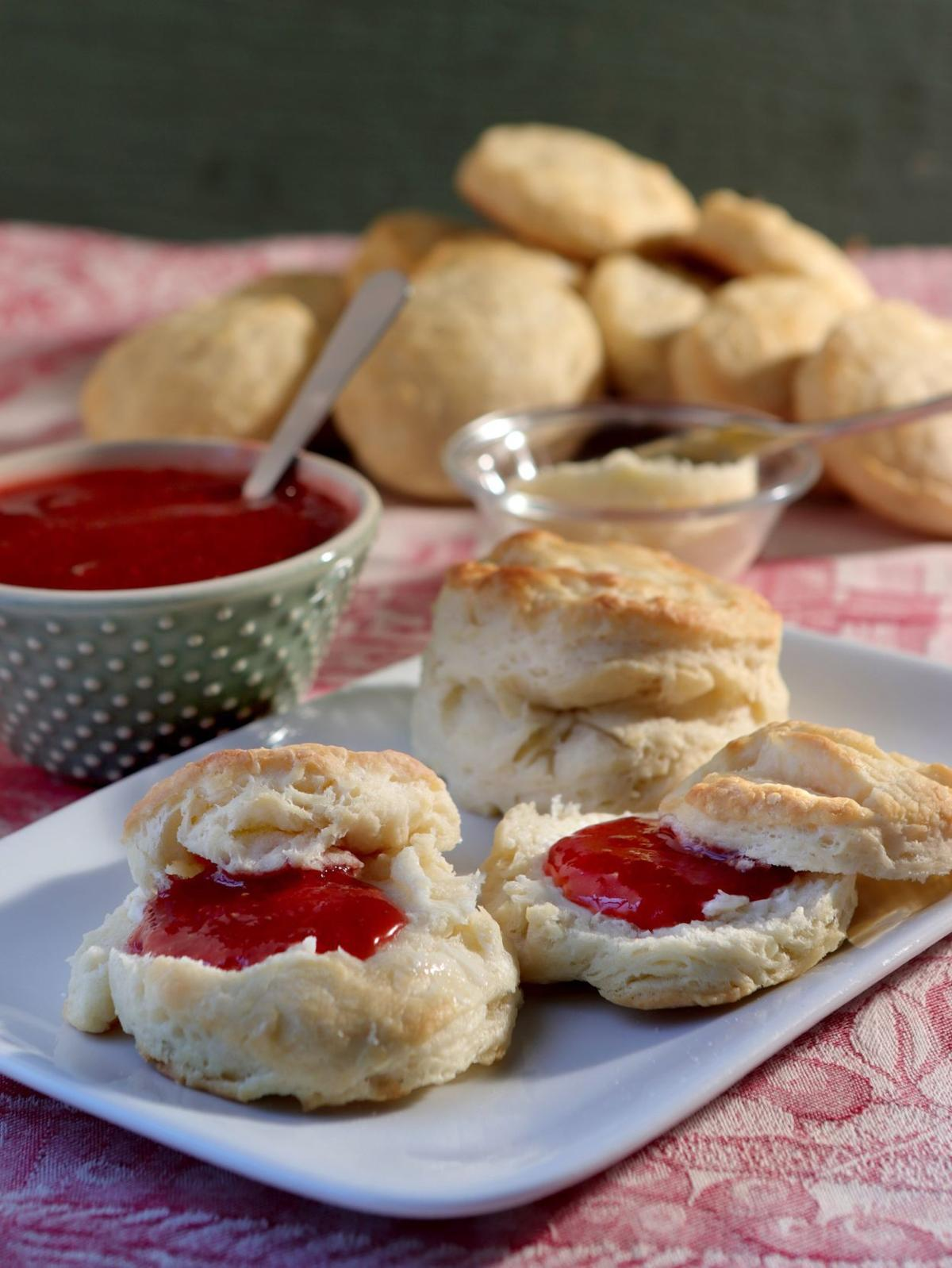 It's the ultimate breakfast treat: homemade biscuits, homemade butter and homemade jam