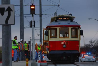 Loop Trolley gets tested in traffic