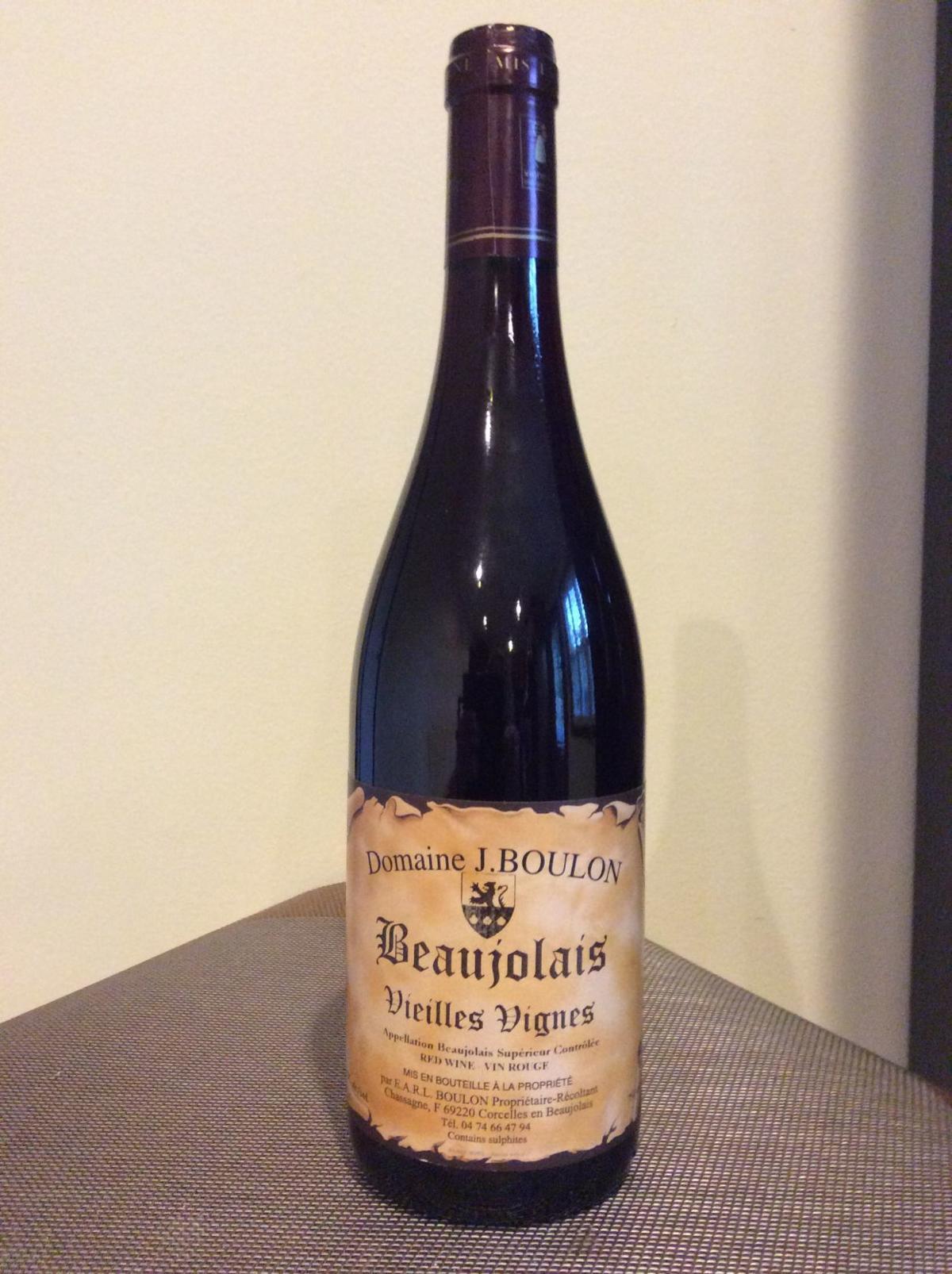 Domaine J. Boulon 2017 Beaujolais Vieilles Vignes, Beaujolais Supérieur, France