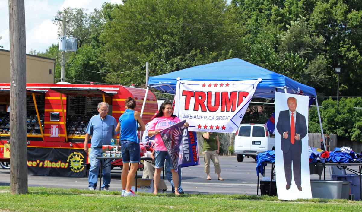 Trump supporters and protesters gather in springfield mo